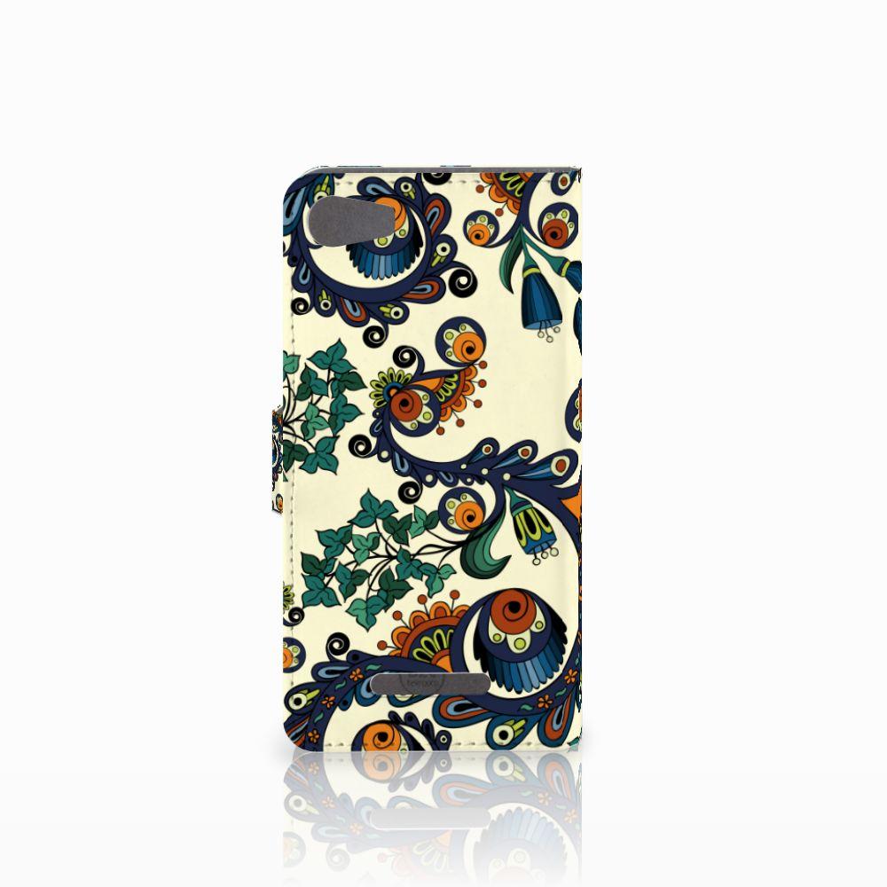 Wallet Case Wiko Lenny 2 Barok Flower