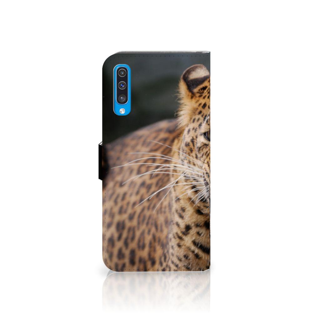 Samsung Galaxy A50 Telefoonhoesje met Pasjes Luipaard