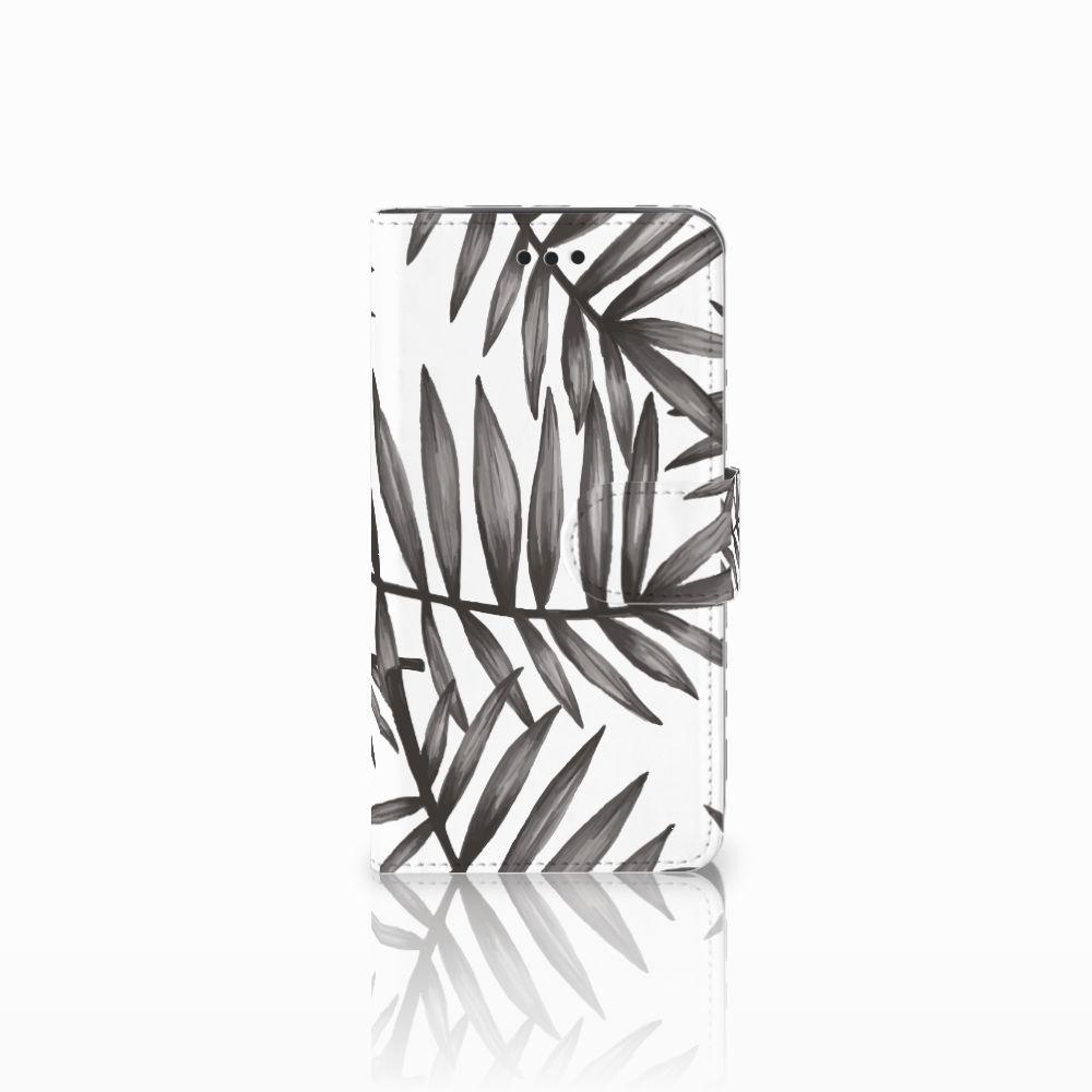 Samsung Galaxy J2 Pro 2018 Uniek Boekhoesje Leaves Grey