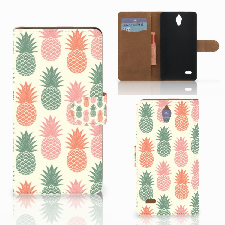 Huawei Ascend G700 Book Cover Ananas