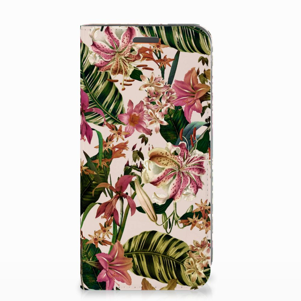 Motorola Moto E5 Play Smart Cover Flowers