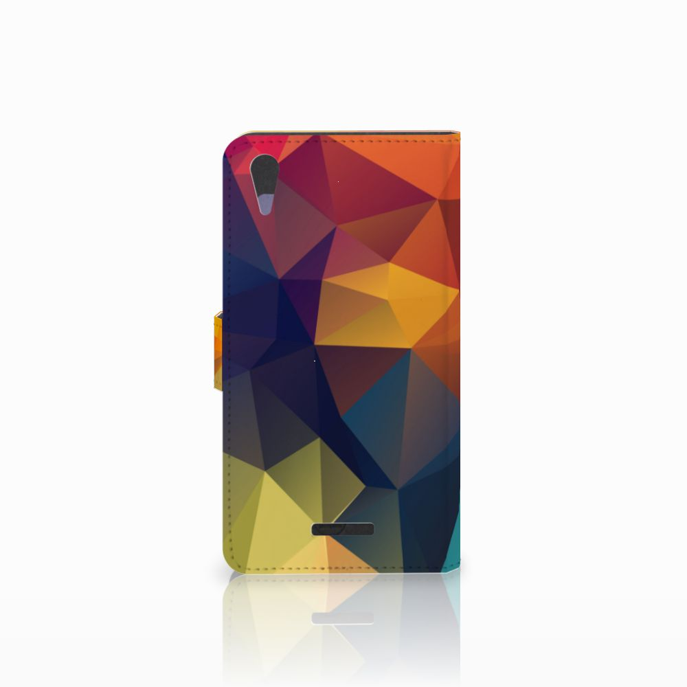 Sony Xperia T3 Bookcase Polygon Color