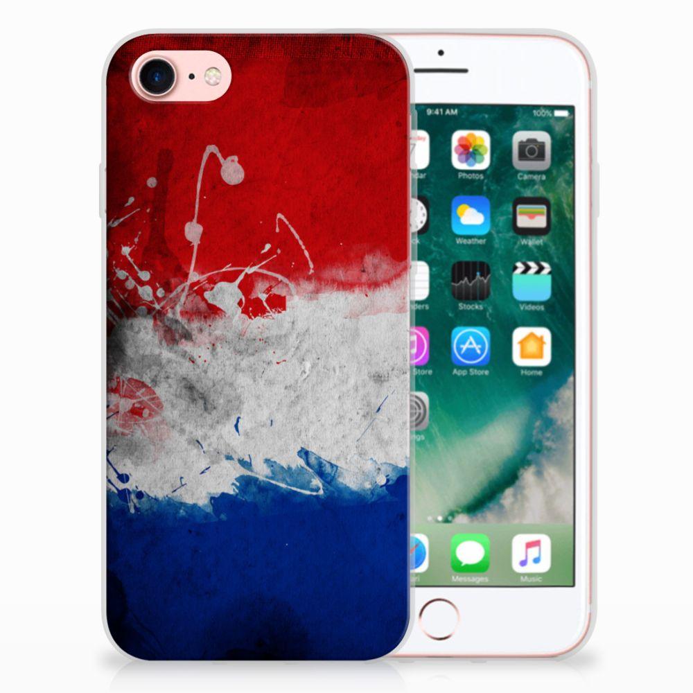 Apple iPhone 7 | 8 Uniek TPU Hoesje Nederlandse Vlag