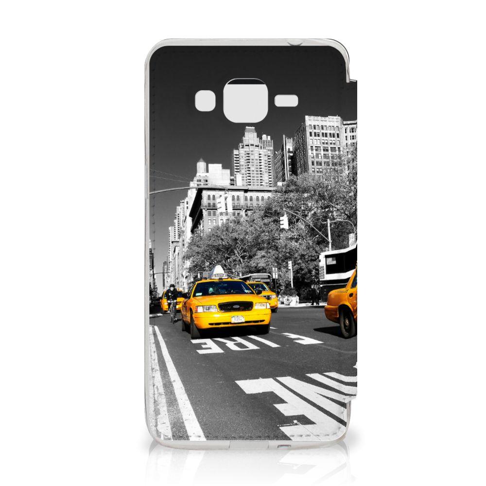 Samsung Galaxy Grand Prime Flip Cover New York Taxi