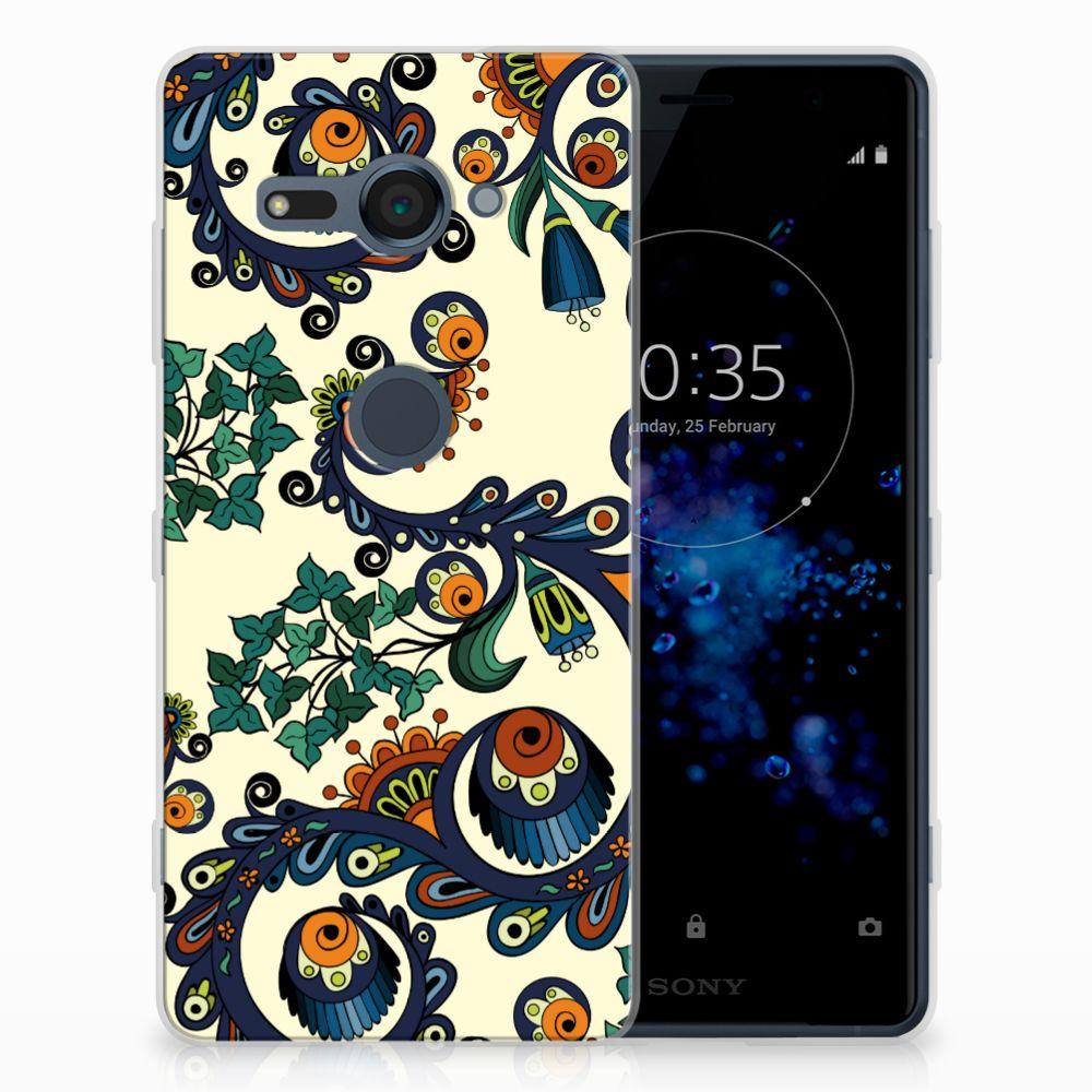 Siliconen Hoesje Sony Xperia XZ2 Compact Barok Flower