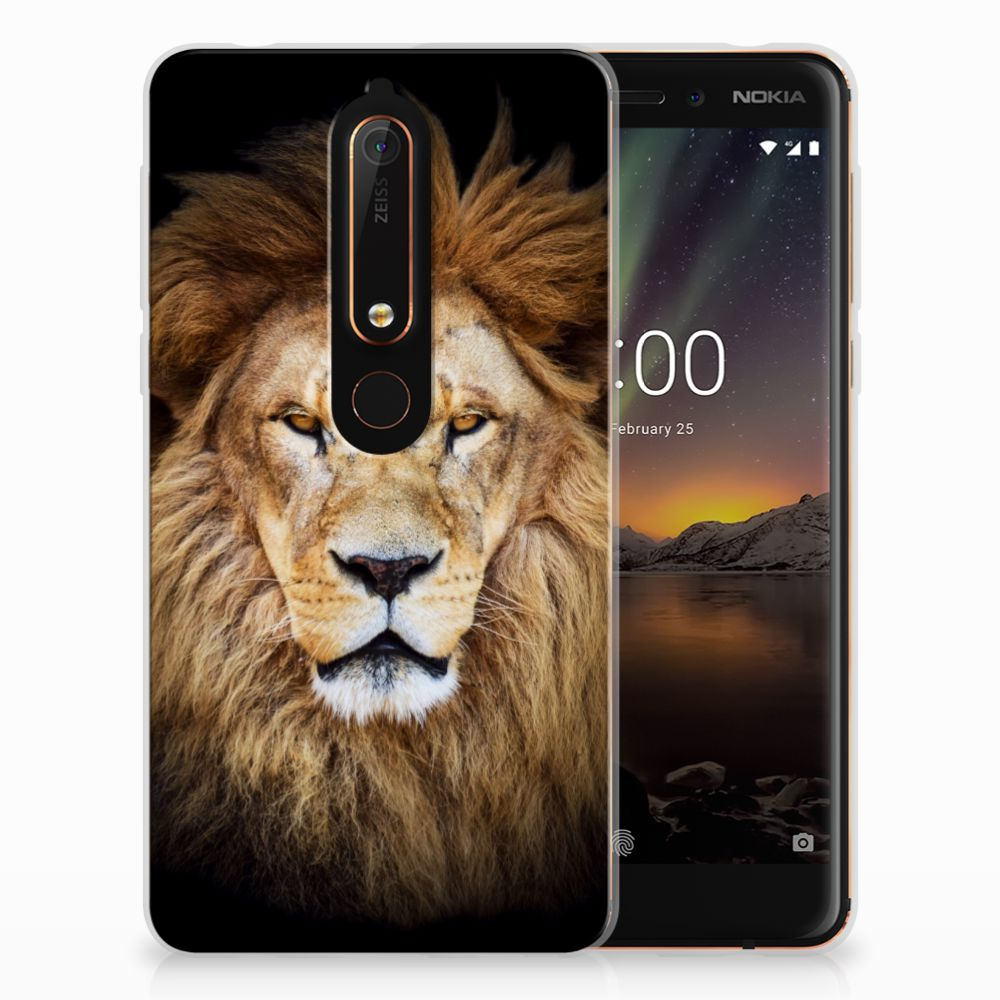 Nokia 6 (2018) TPU Hoesje Design Leeuw