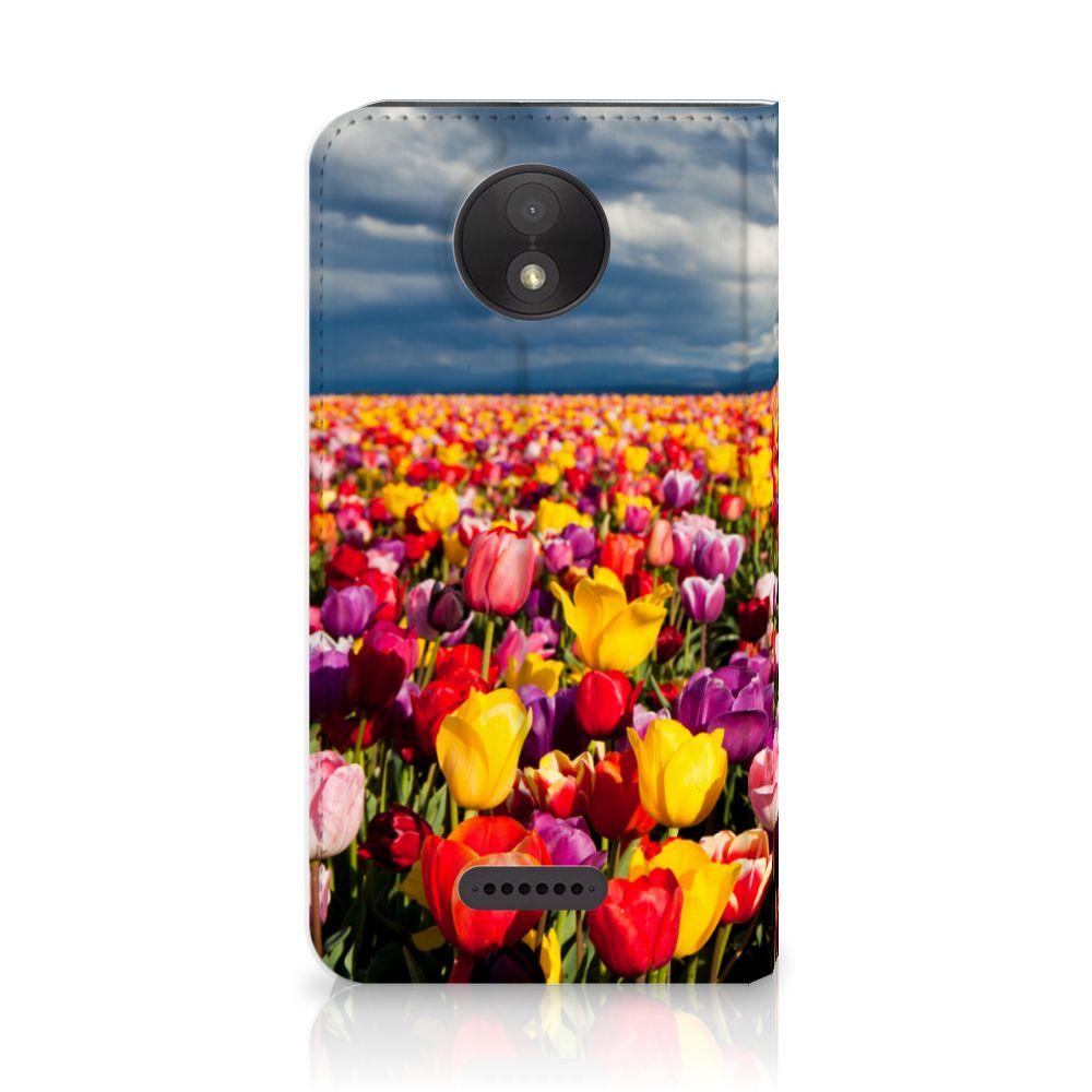Motorola Moto C Plus Uniek Standcase Hoesje Tulpen