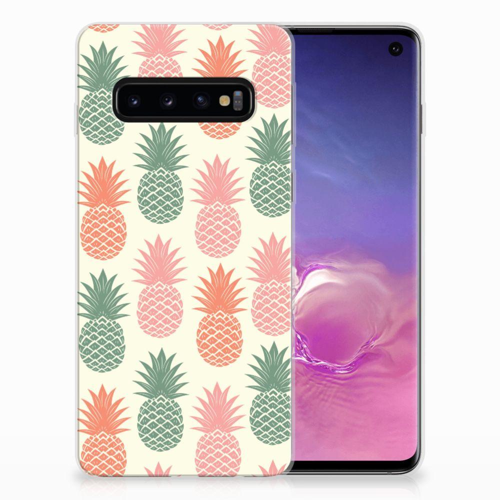 Samsung Galaxy S10 Siliconen Case Ananas