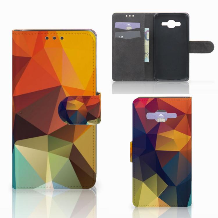 Samsung Galaxy J5 (2015) Bookcase Polygon Color