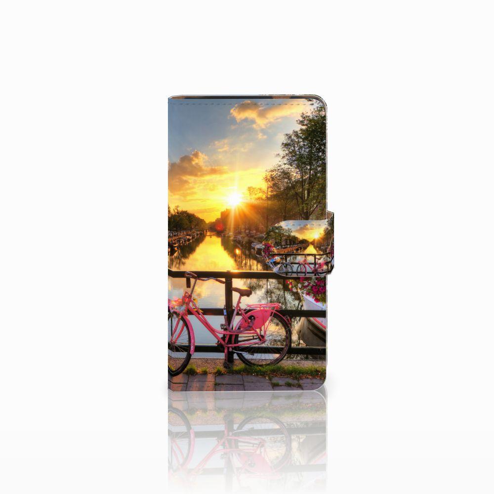 HTC Desire 601 Uniek Boekhoesje Amsterdamse Grachten