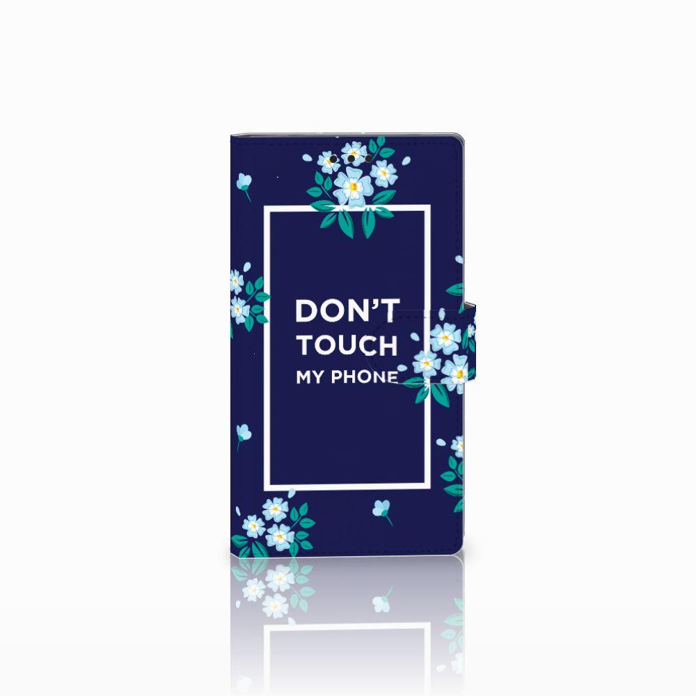 Sony Xperia L2 Boekhoesje Flowers Blue DTMP