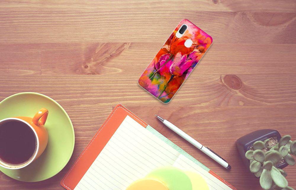 Hoesje maken Samsung Galaxy A20e Tulips