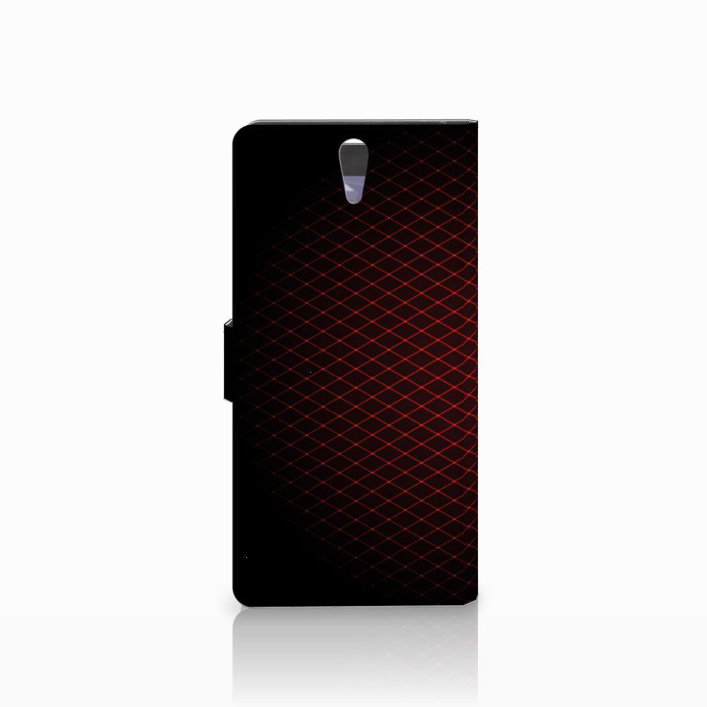 Sony Xperia C5 Ultra Telefoon Hoesje Geruit Rood