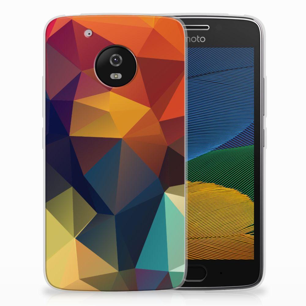 Motorola Moto G5 TPU Hoesje Polygon Color