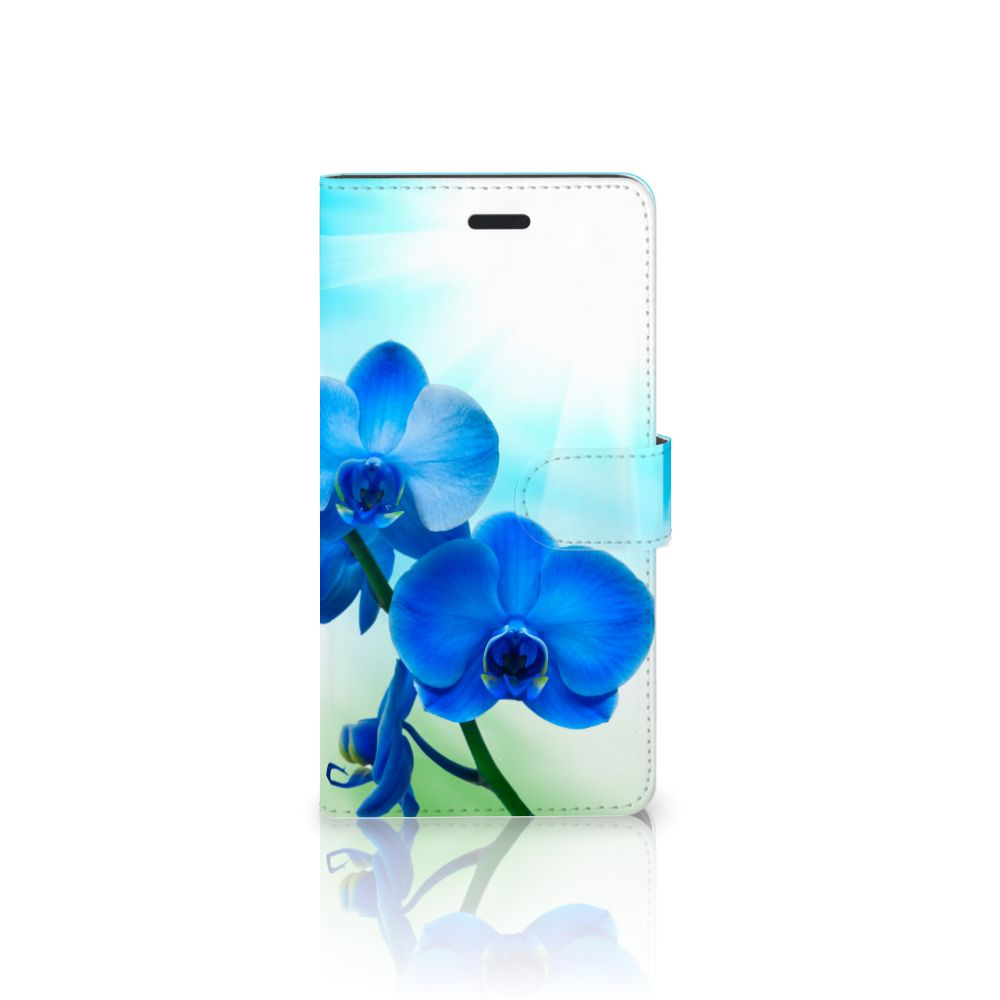Samsung Galaxy A7 2017 Boekhoesje Design Orchidee Blauw