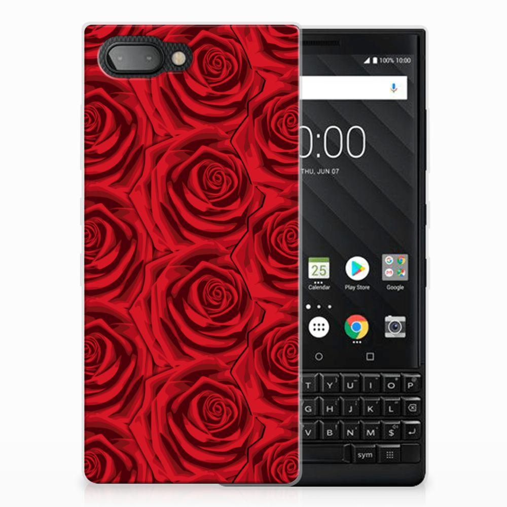 BlackBerry Key2 Uniek TPU Hoesje Red Roses