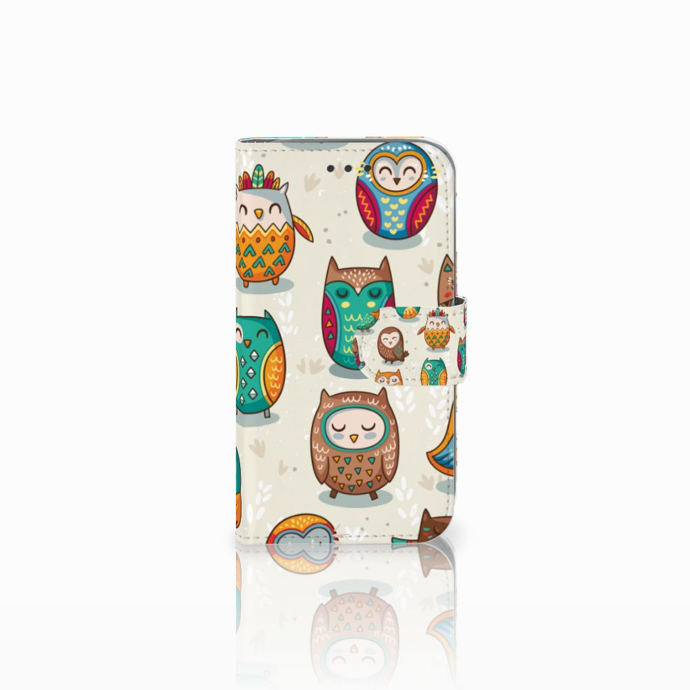 Samsung Galaxy Core Prime Telefoonhoesje met Pasjes Vrolijke Uilen
