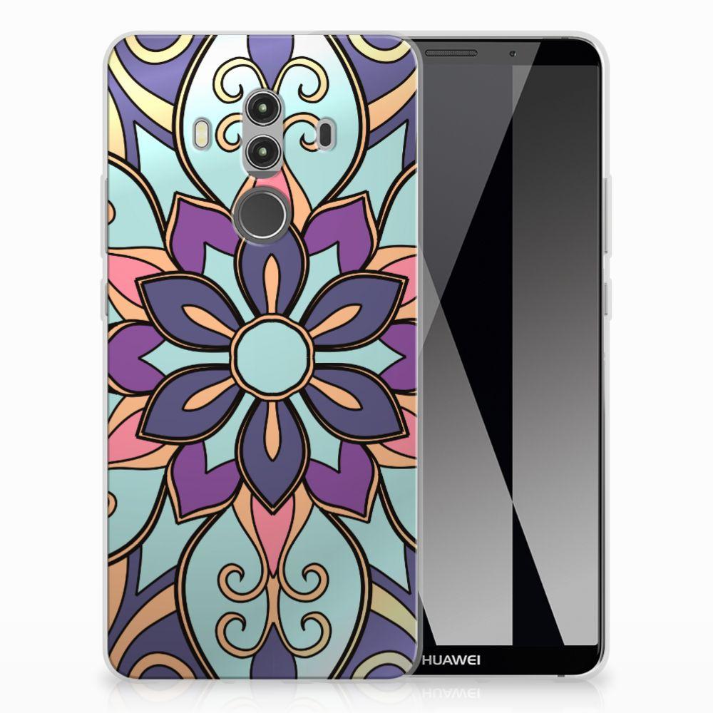 Huawei Mate 10 Pro TPU Hoesje Design Purple Flower