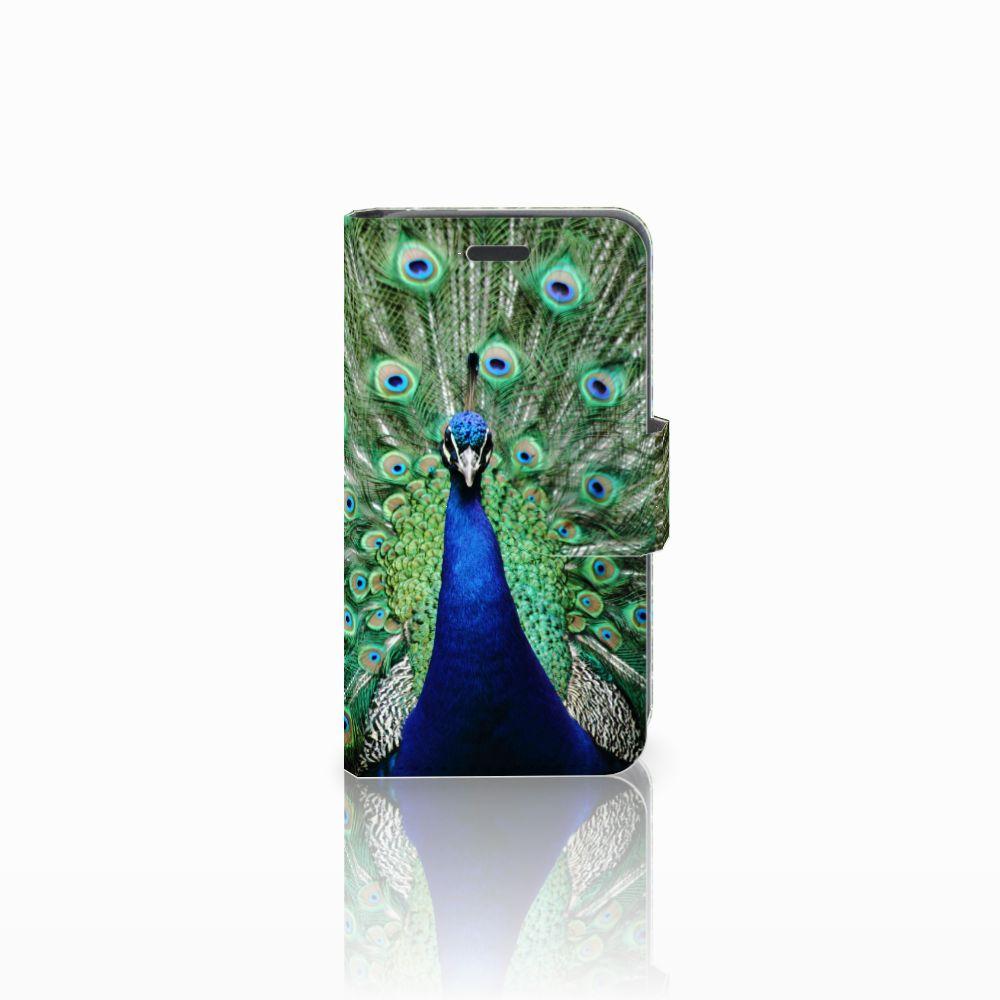 Nokia Lumia 520 Telefoonhoesje met Pasjes Pauw