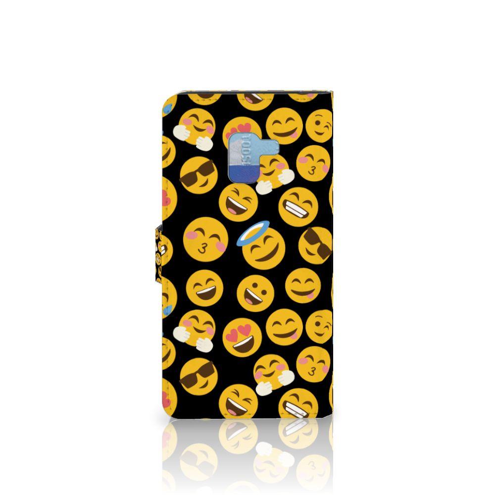 Samsung Galaxy A8 Plus (2018) Telefoon Hoesje Emoji