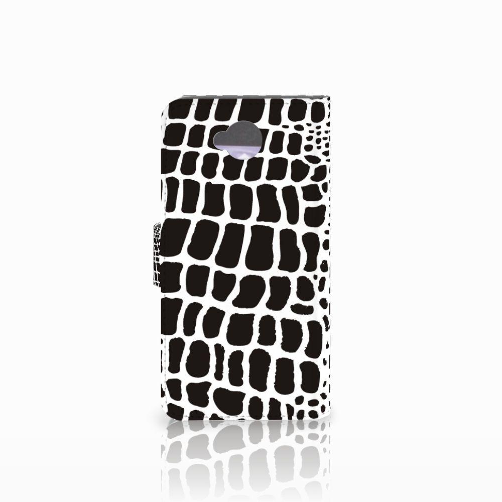 Microsoft Lumia 650 Telefoonhoesje met Pasjes Slangenprint