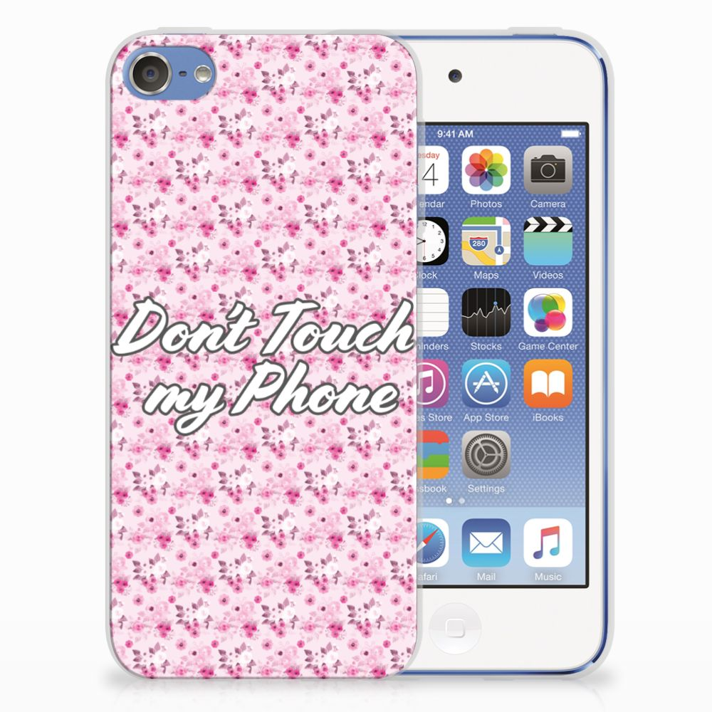 Apple iPod Touch 5 | 6 Uniek TPU Hoesje Flowers Pink DTMP