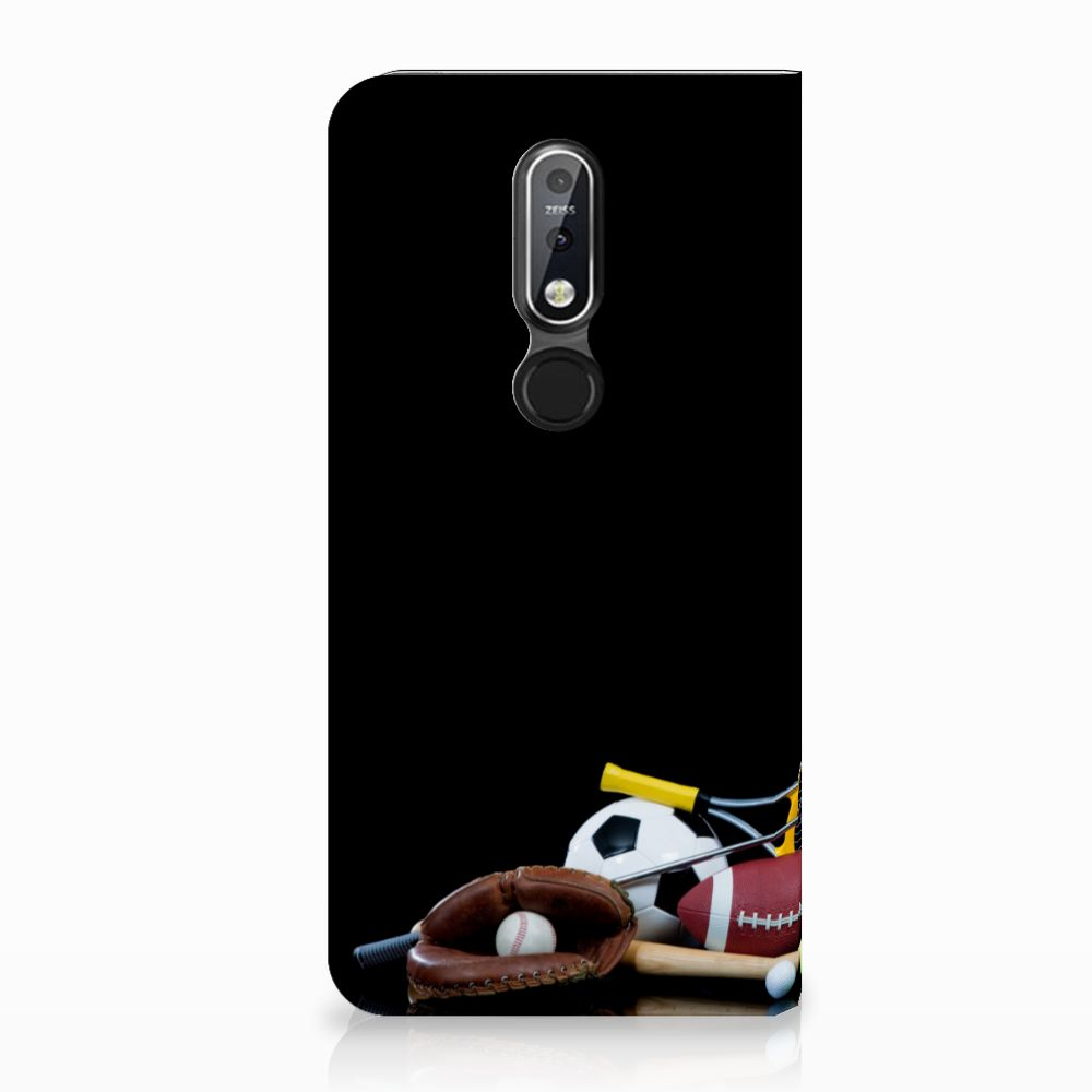 Nokia 7.1 (2018) Standcase Hoesje Design Sports