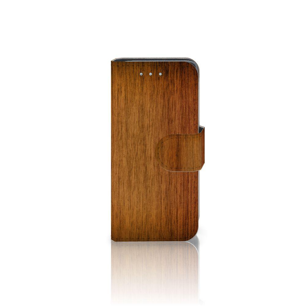Samsung Galaxy S4 Mini i9190 Uniek Boekhoesje Donker Hout
