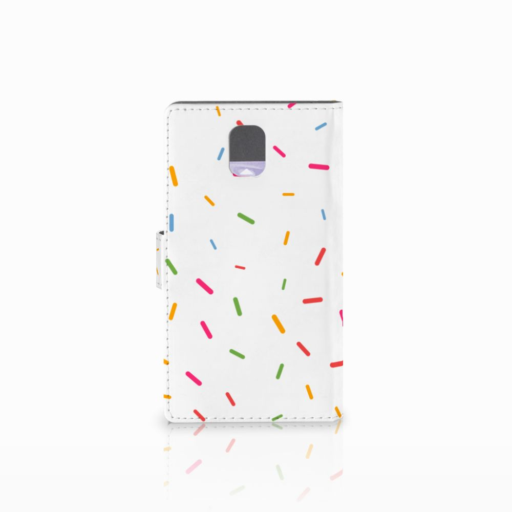 Samsung Galaxy Note 3 Book Cover Donut Roze