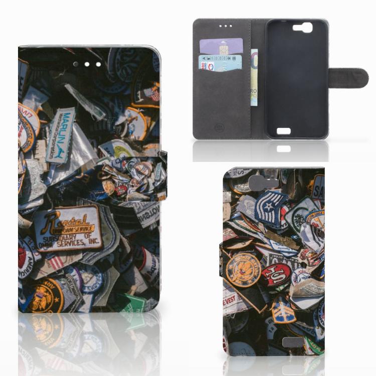 Huawei Ascend G7 Telefoonhoesje met foto Badges