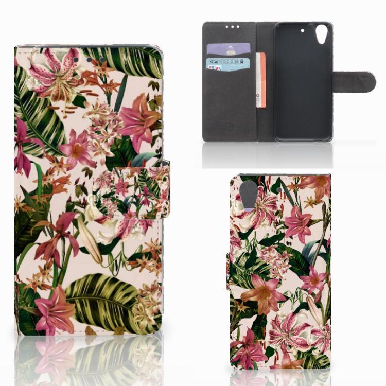 HTC Desire 626 | Desire 626s Hoesje Flowers