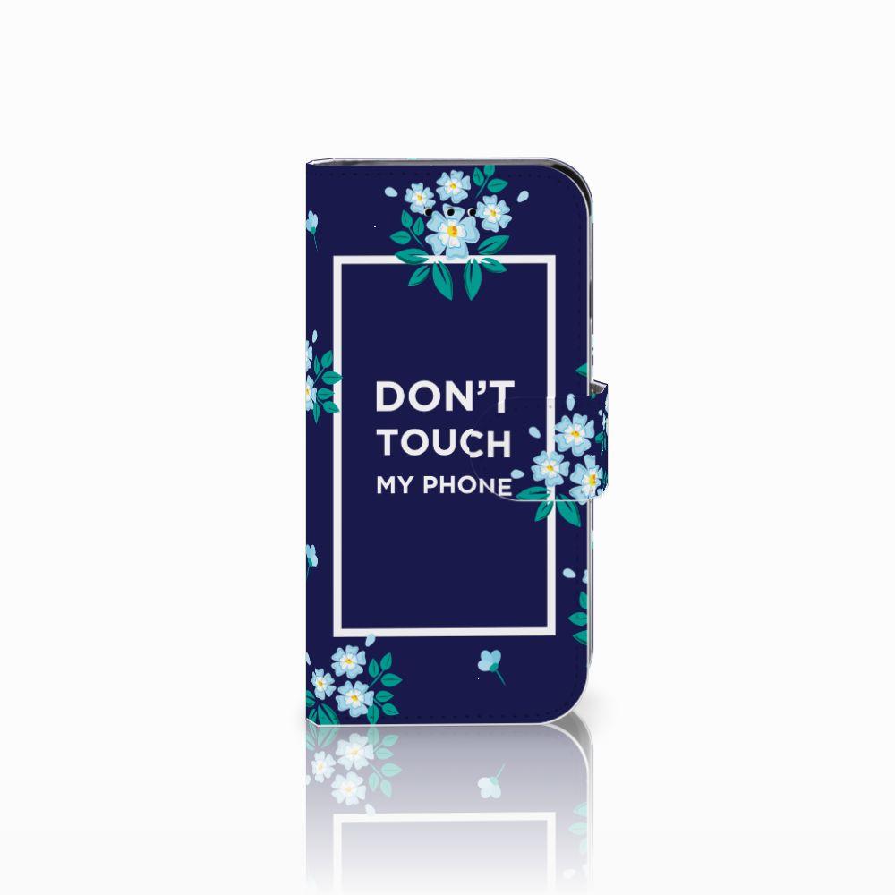 Apple iPhone 6 | 6s Boekhoesje Flowers Blue DTMP