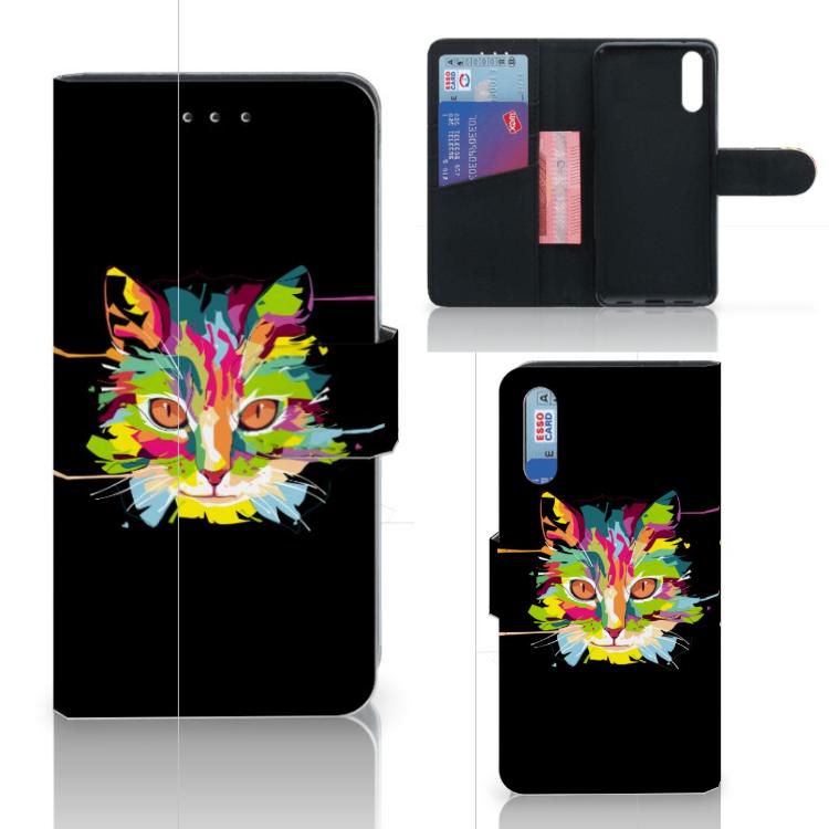Huawei P20 Leuke Hoesje Cat Color