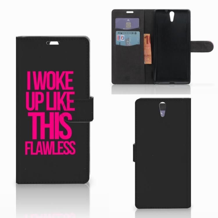 Sony Xperia C5 Ultra Hoesje met naam Woke Up