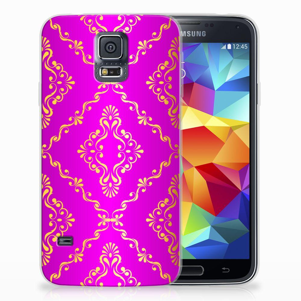 Samsung Galaxy S5 Uniek TPU Hoesje Barok Roze