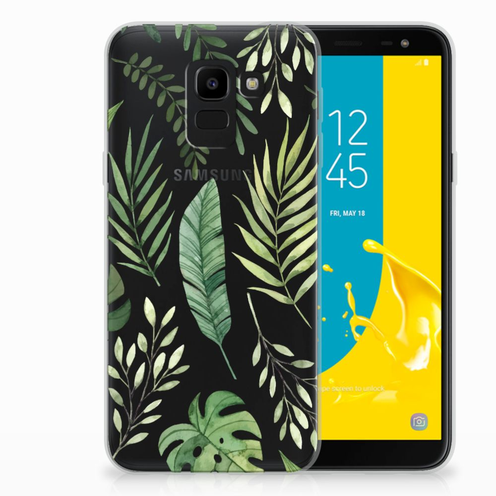 Samsung Galaxy J6 2018 TPU Case Leaves