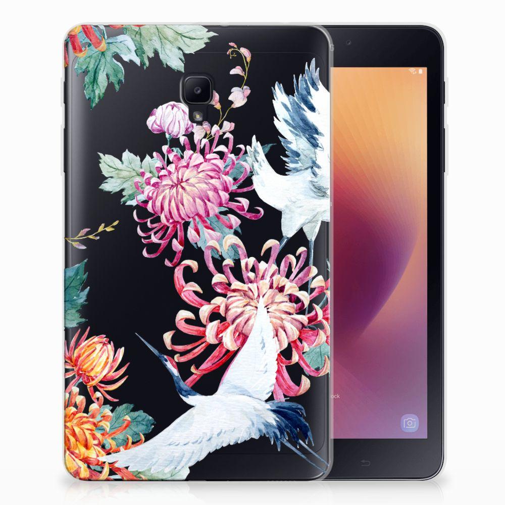 Samsung Galaxy Tab A 8.0 (2017) Uniek Tablethoesje Bird Flowers