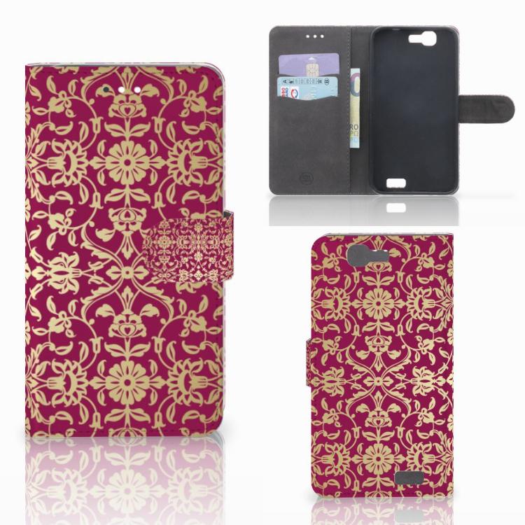 Wallet Case Huawei Ascend G7 Barok Pink