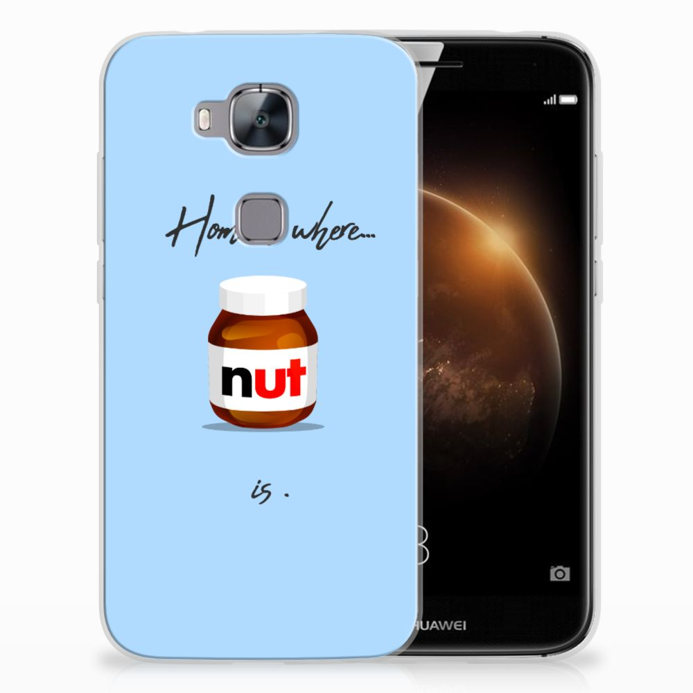 Huawei G8 Siliconen Case Nut Home