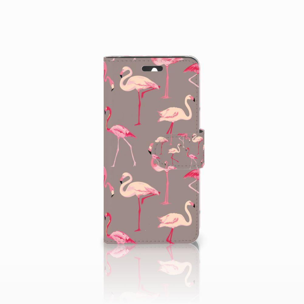 Huawei Ascend Y550 Uniek Boekhoesje Flamingo