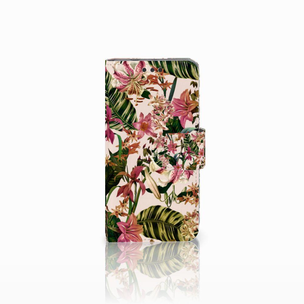 Sony Xperia Z3 Compact Uniek Boekhoesje Flowers