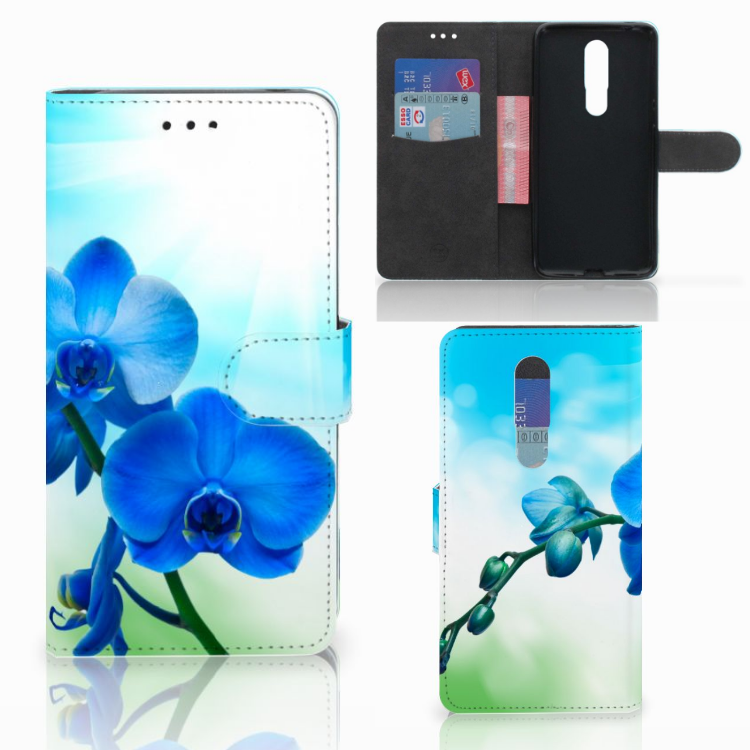 Nokia 3.1 Plus Hoesje Orchidee Blauw