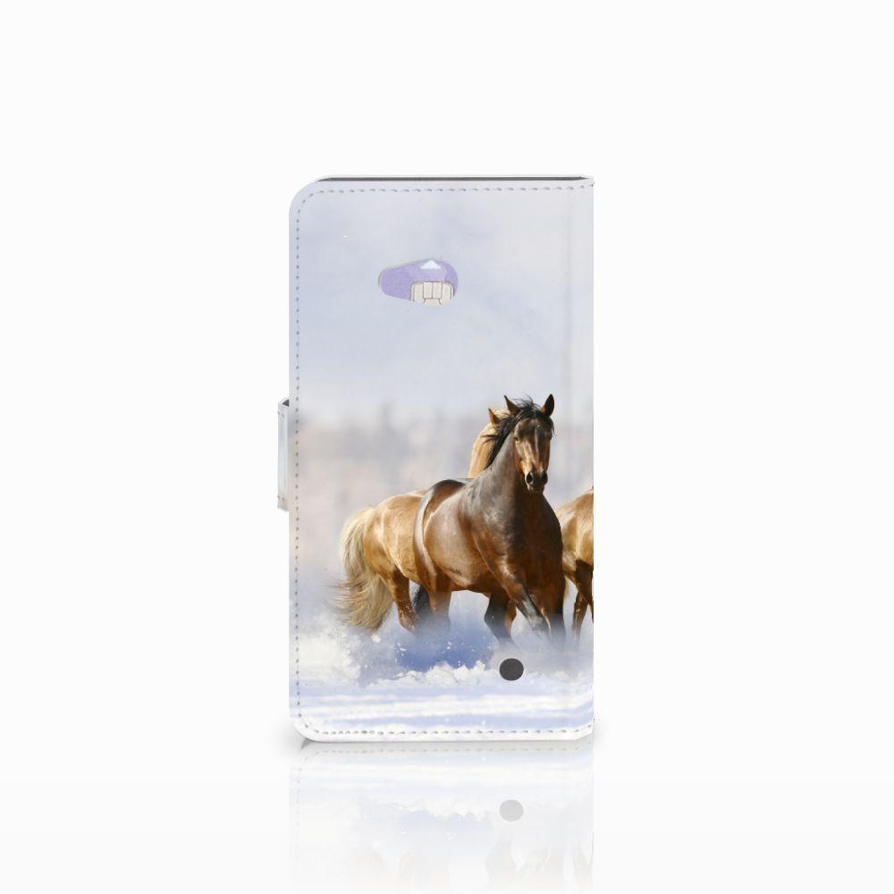 Microsoft Lumia 640 Telefoonhoesje met Pasjes Paarden