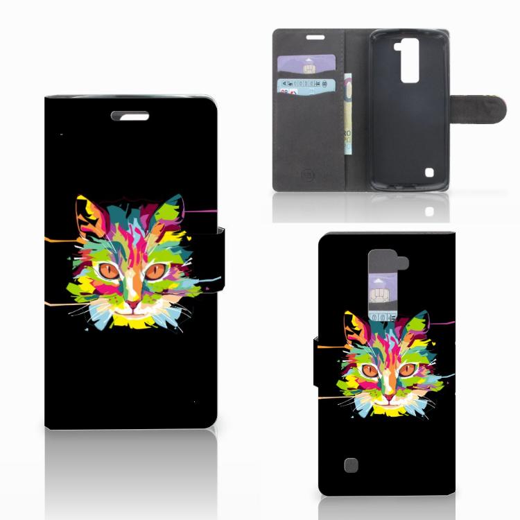 LG K10 2015 Leuke Hoesje Cat Color