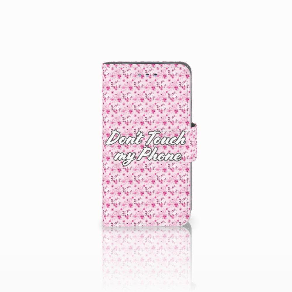 Samsung Galaxy S3 Mini Uniek Boekhoesje Flowers Pink DTMP