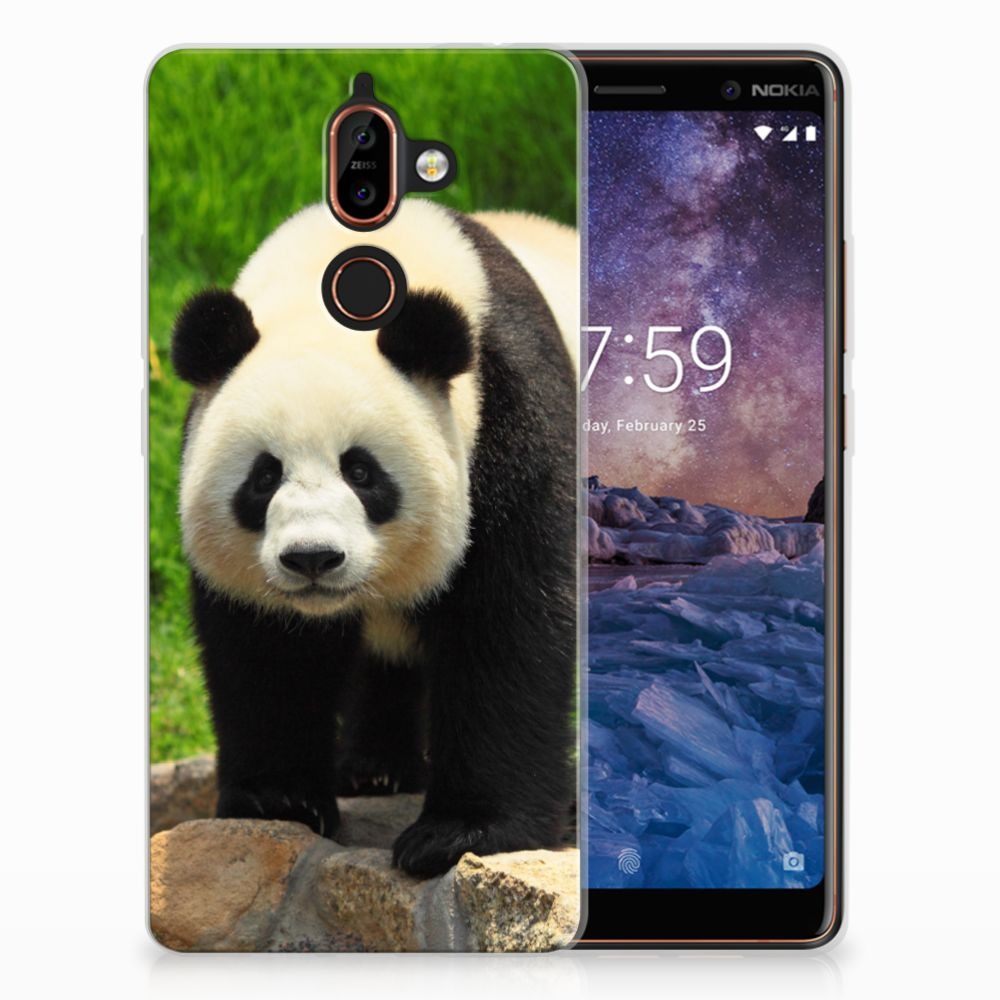 Nokia 7 Plus TPU Hoesje Panda