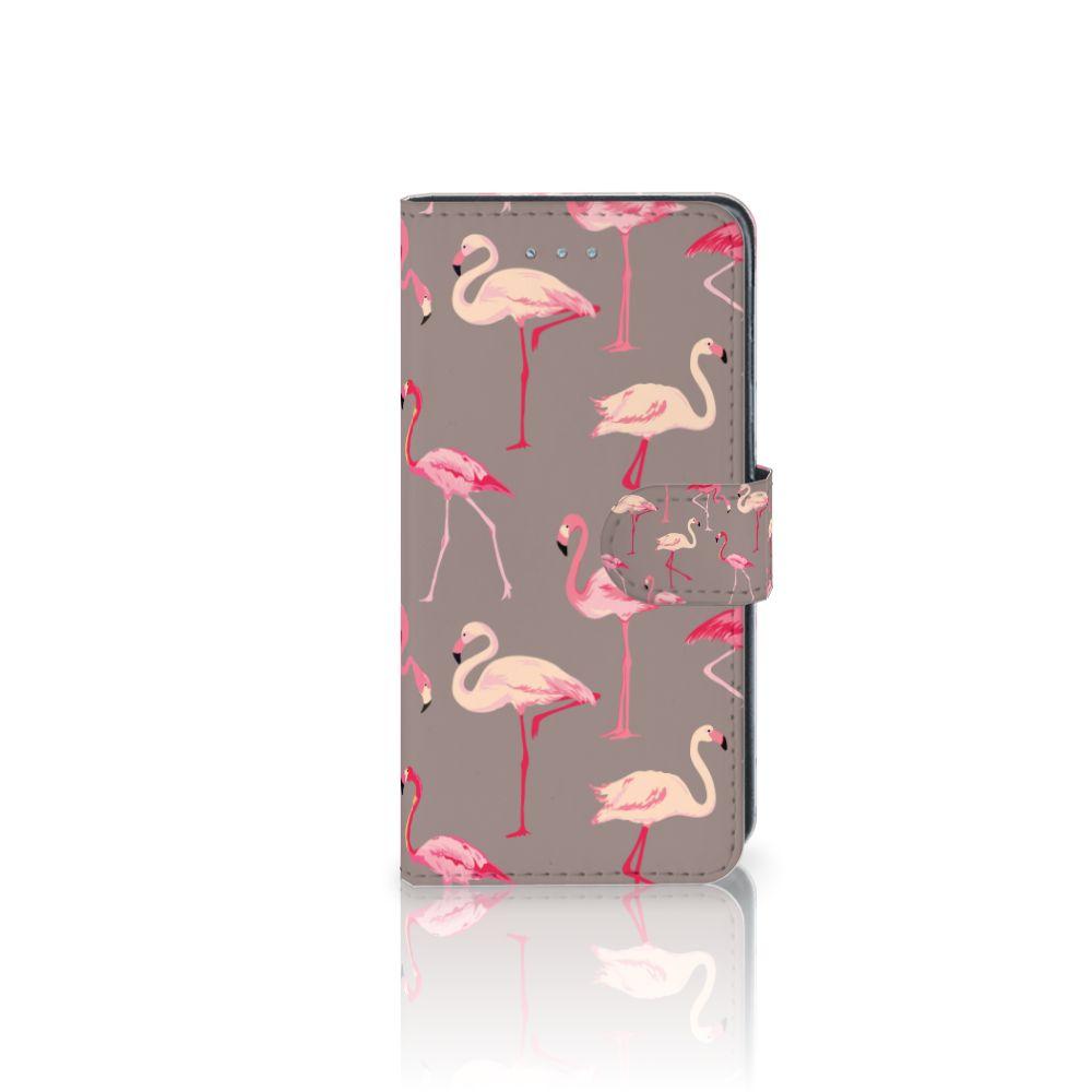 Samsung Galaxy J3 2016 Uniek Boekhoesje Flamingo