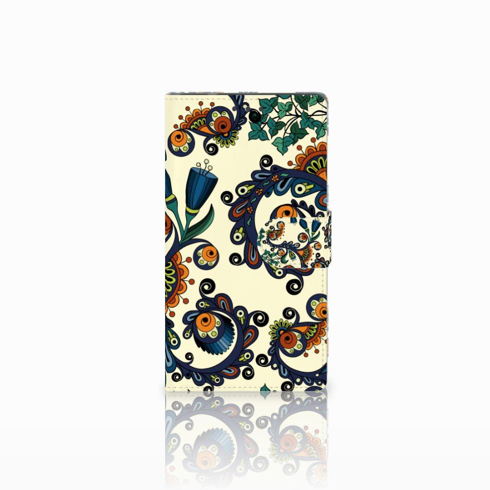 Samsung Galaxy Note 4 Boekhoesje Design Barok Flower