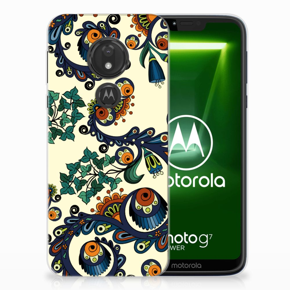 Motorola Moto G7 Power TPU Hoesje Design Barok Flower