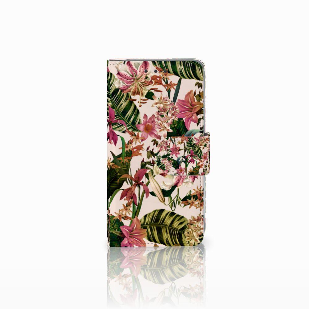 Samsung Galaxy A3 2015 Uniek Boekhoesje Flowers